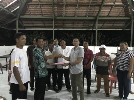 Serah Terima Jabatan Pengurus BPD Lama ke Pengurus BPD Baru Desa Bukti