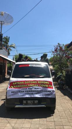 Penyemprotan Desinfektan Lanjutan Para Relawan Muda-Mudi Desa Bukti