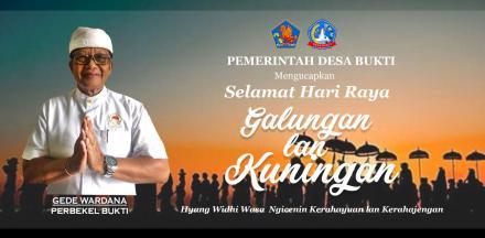 Pemerintah Desa Bukti Mengucapkan Selamat Hari Raya Galungan Dan Kuningan