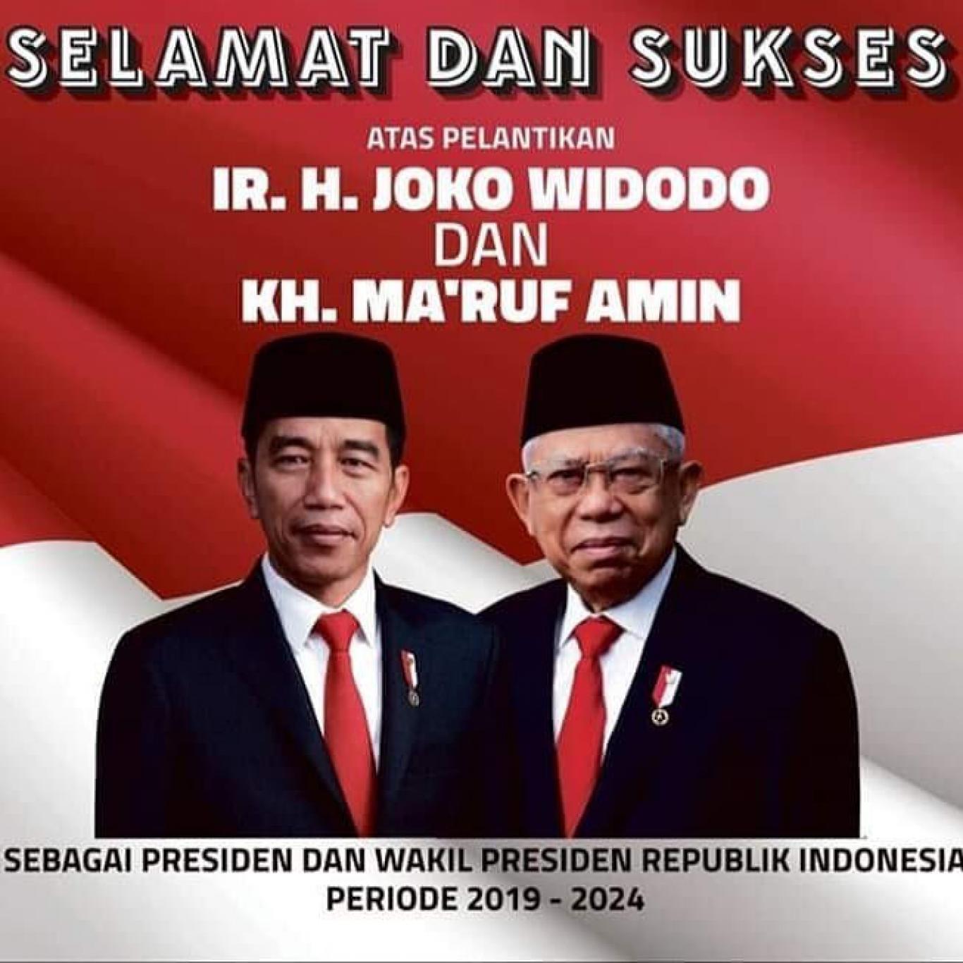 Selamat Atas Dilantiknya Presiden Dan Wakil Presiden Ri Periode 2019 2024 Website Desa Bukti